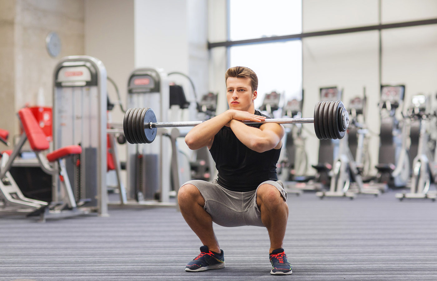 Front Squat pour muscler ses jambes